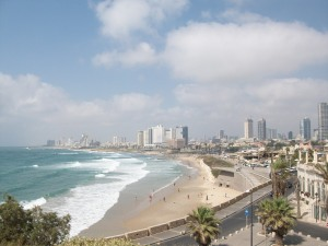View from Yafo of Tel Aviv