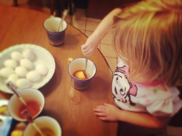 Dyeing Easter Eggs