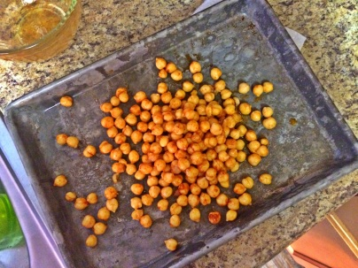 roasted chickpeas in paprika